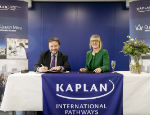 The signing ceremony at Kaplan International College London