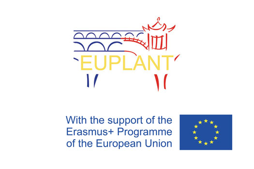 EUPLANT logo sat above the Erasmus+ logo which states 'with the generous support of the Erasmus+ programme of the European Union