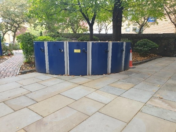 a picture of bike lockers