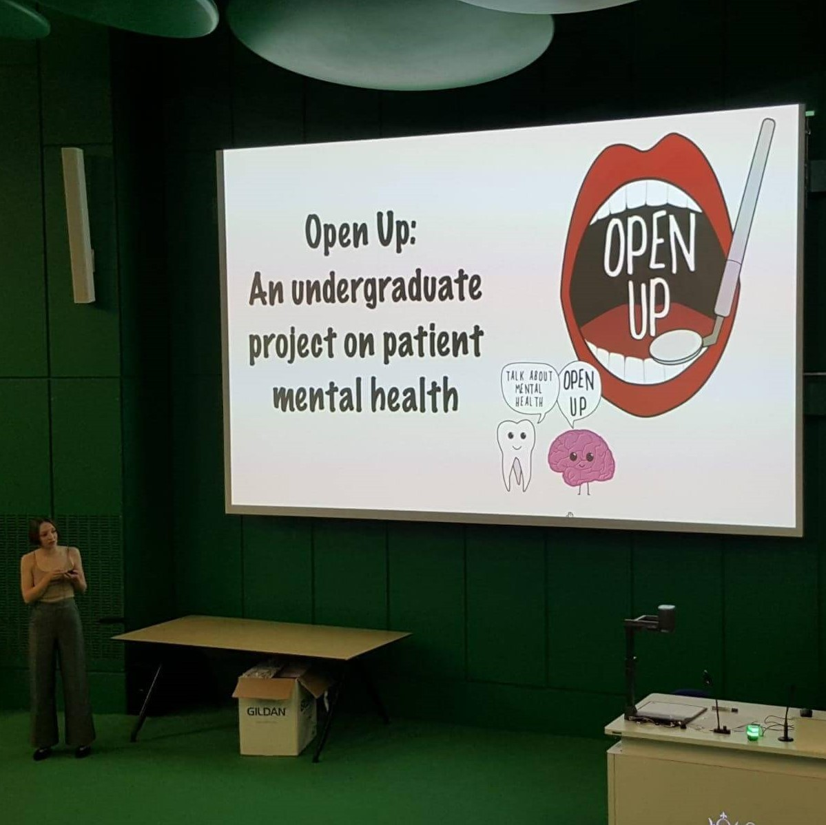 Students presenting for 'Open Up' Project