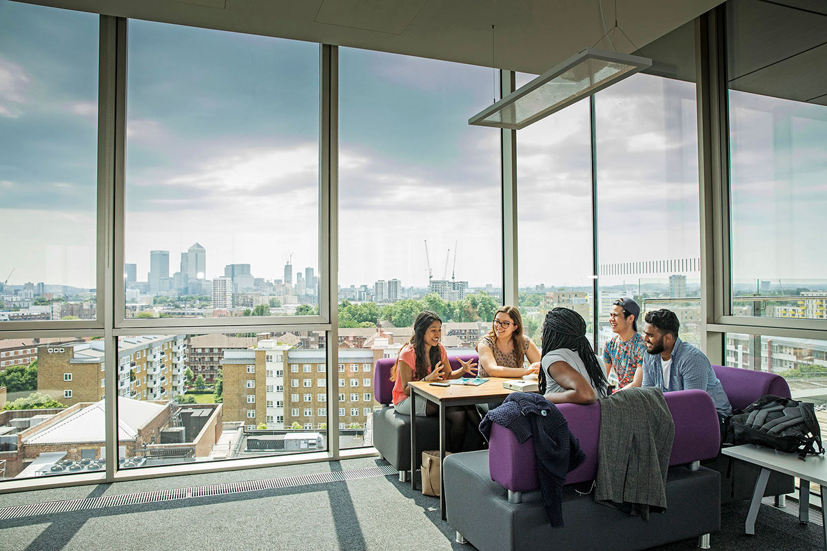 The view over London from the top of our Graduate Centre