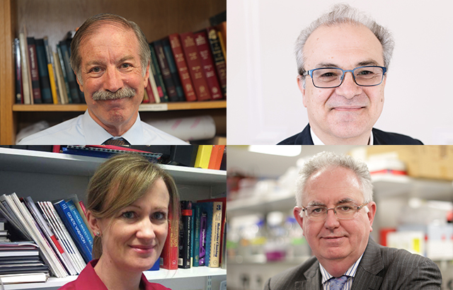 Clockwise from top left: Professors Cuzick, Deloukas, Caulfield and Munroe