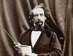 A photograph of author Charles Dickens