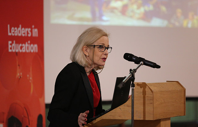Professor Stephanie Marshall at the Future of Teaching, Learning and Leadership event at Queen Mary. Credit: Queen Mary