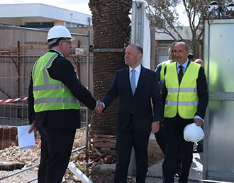 Professor Anthony Warrens and Prime Minister of Malta, Joseph Muscat