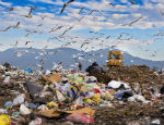 Photograph of a landfill site