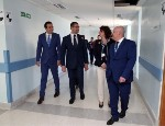 Maltese Prime Minister Robert Abela (second from left) visits Queen Mary's campus in Gozo. Credit: Clodagh O'Neill