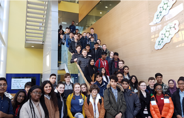 The 63 students that took part in the Royal Society of Chemistry (RSC) Schools' Analyst Competition (SAC'19) in the Joseph Priestley building of the Department of Chemistry and Biochemistry.