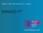 Queen Mary University of London placed at number 17 in Europe