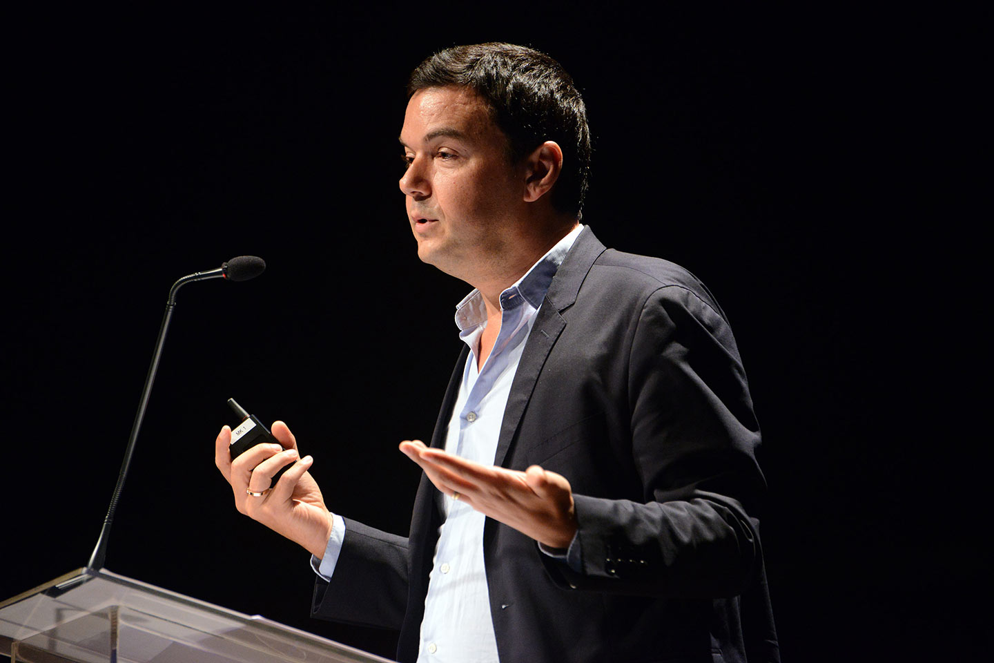 Thomas Piketty delivering a lecture