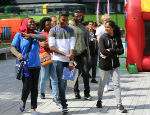 Prospective students at a Queen Mary University of London Open Day