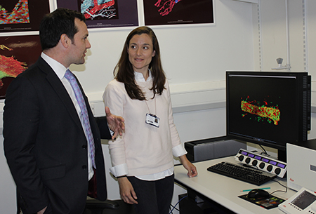 Dr Natalia Reglero with Chris Green MP