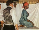 This 1952 painting by Robert Thom is the only known representation of Lucy, Anarcha and Betsey. Pearson Museum, Southern Illinois University School of Medicine