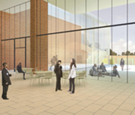 Artist's impression of the internal courtyard