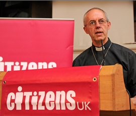 Archbishop of Canterbury speaking at The Summit. Photo @chrisjepson.com
