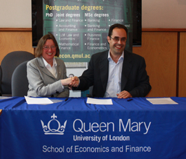 Ruth Martin, Managing Director, CISI and Professor George Kapetanios, Head of School of Economics and Finance