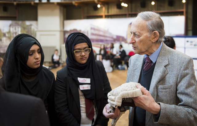 Newham students with Victor Tunkel from the School of Law