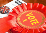 Stock image of Labour party rosette. Credit: stocknshares/iStock.com