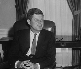 Kennedy with former president Harry Truman, courtesy of US National Archives and Records Administration