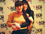 Cecilia Frugiuele (left) and Desiree Akhavan at the BFI London Film Festival