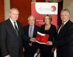 Mr Martin McGuinness (deputy First Minister), Professor Seán McConville, Dr Anna Bryson and Mr Peter Robinson (First Minister)