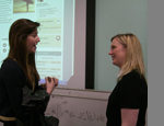 L to r: QM student Alice Howarth with Stella Creasy MP