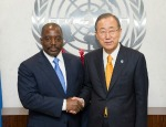 Ban Ki-moon and Joseph Kabila