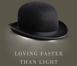 Book cover for 'Loving Faster than Light'
