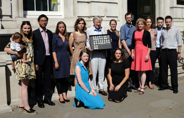 Returning our Ebola Medals with Lord Dubs