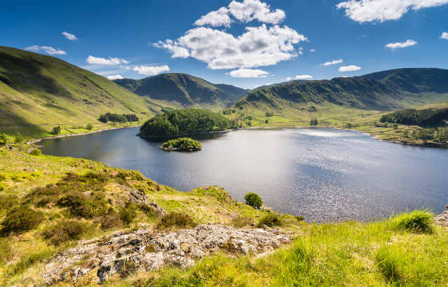 Reservoir surrounded by hills. Credit: daverhead/iStock.com