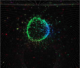 3D image of an electron neutrino in the detector