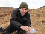 Richard Buggs collecting Dwarf Birch sample