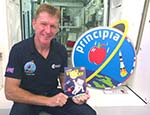 Tim Peake with the Space Diary (c) Curved House
