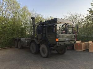 A British Army truck involved in construction