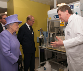 The Queen and Duke of Edinburgh meet Gareth Sanger, professor of neuropharmacology