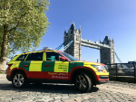 A Physician Response Unit car. Credit: London's Air Ambulance Charity.