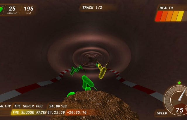 Screenshot from Poo Racer