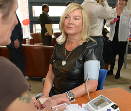 BBC 'New Tricks' star Amanda Redman has her blood pressure checked