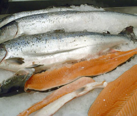 Omega-3 fatty acids are found in oily fish such as salmon
