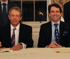Professor Simon Gaskell and Peter Morris