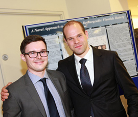 Dental students Mark Franks (left) and Corwin Hine (right)