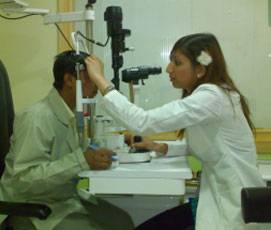 Radhika Gulati in India eye hospital credit:Radhika Gulati