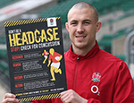 Rugby player Mike Brown supporting concussion awareness last year. Credit: England Rugby