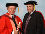 Professor Sir Nicholas Wright with Professor Peter Mathieson