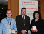 Winning team: (L-R) Dr Tim Forshew, Professor R Poulsom & Dr Ruth Tatevossian