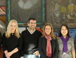 Professor Marelli-Berg with some of her research team