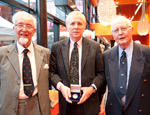 Professor Andrew Lees - centre - with Lord Brain's sons