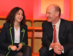 David Willetts MP with pupil from Haggerston School
