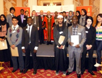 The 2011 scholarship winners at Mansion House