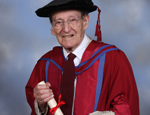 Dr John North - as an nonagenarian he is one of UK's oldest graduates